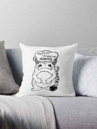 """Hangry Monster"" Throw Pillows by earthenwood 