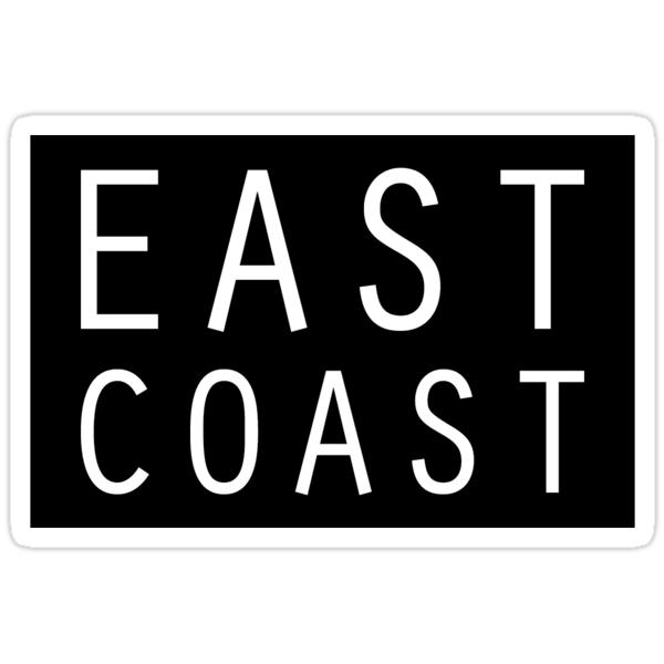 east coast Stickers by jackbox999  Redbubble