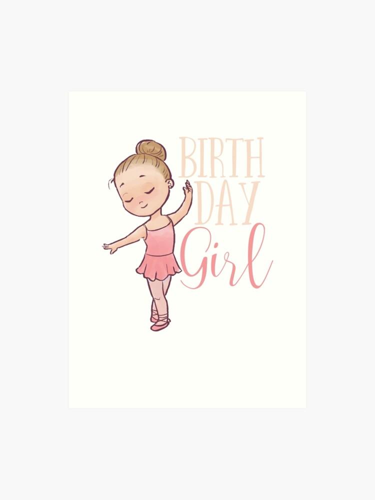 birthday girl ballerina dancer