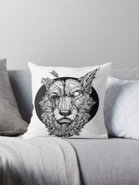 """Migraine Tote/Pillow/Print"" Throw Pillows by ..."