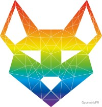 """Geometric Canine - ""Prism"" Inverted"" Stickers by ..."