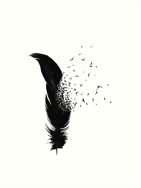 """Birds Flying Out Of A Feather"" Art Prints by pentel ..."