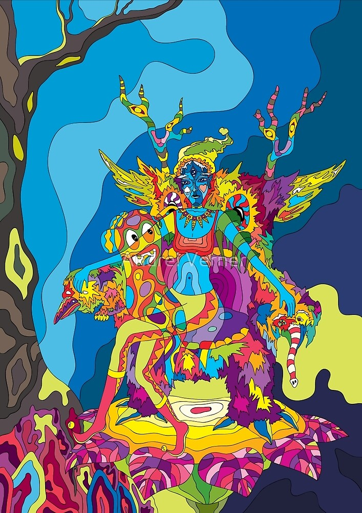 Psychedelic Christmas And New Year Poster 2015 By Andrei