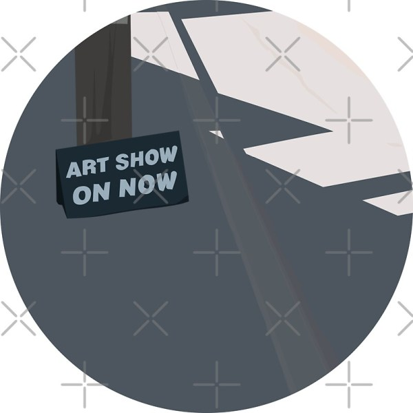 """""""0094 Art Show Sign - Circle """" Stickers Reapolo Redbubble"""