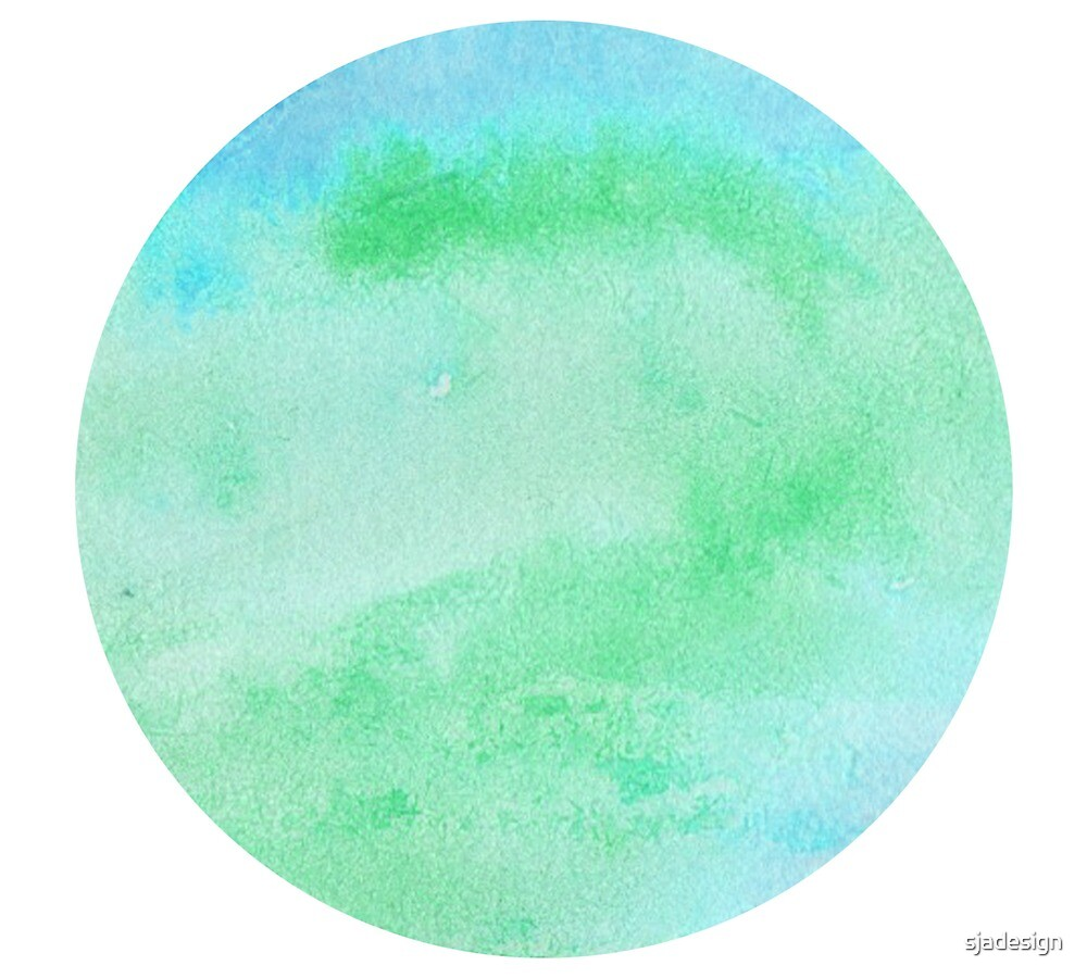 Watercolor Circle Blue By Sjadesign Redbubble