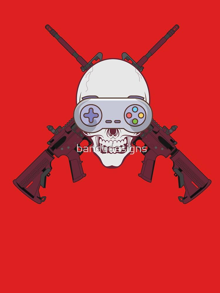 skulls guns gamepad classic
