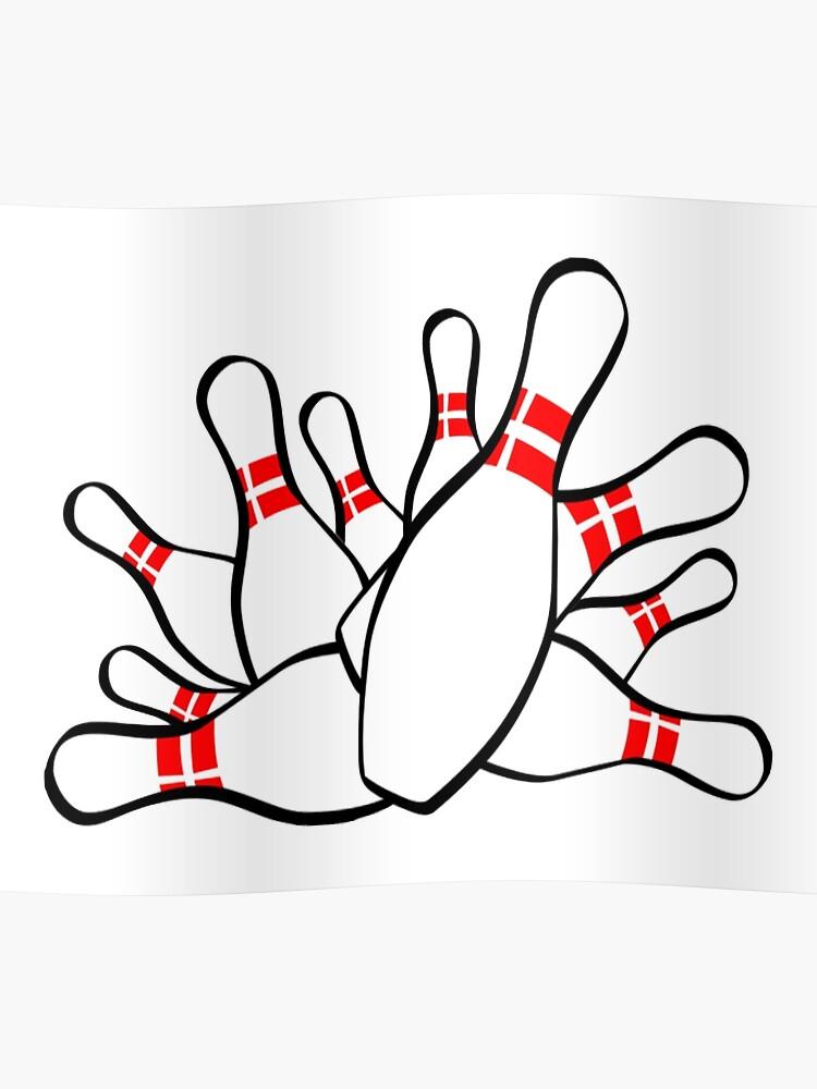 bowling strike ten pin