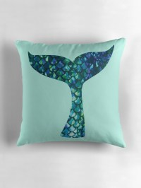 """Mermaid Tail"" Throw Pillows by emilystp23"