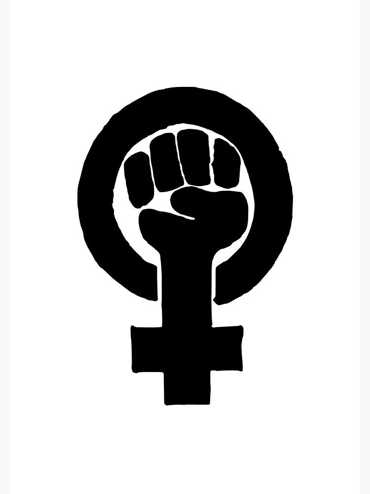 feminist logo spiral notebook