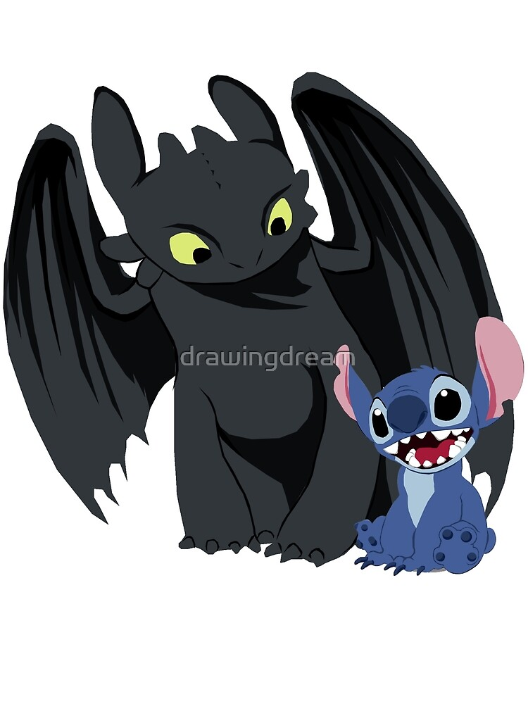 Stitch Wallpaper Iphone X Quot Stitch And Toothless Quot By Drawingdream Redbubble