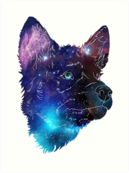 wolf galaxy pup redbubble transparent
