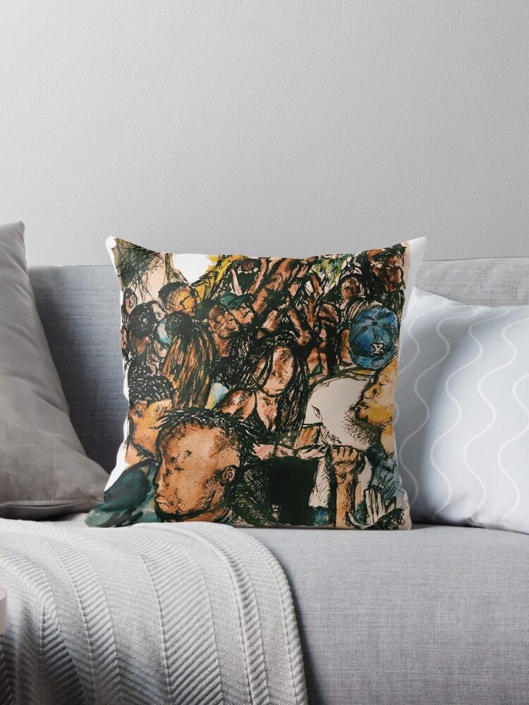 New Generation Throw Pillows by noahamin  Redbubble