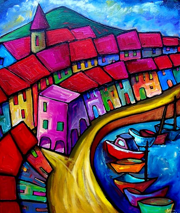"""colourful Port Of Corricella - Italy."" Art Prints Online Artist Sara Catena Redbubble"