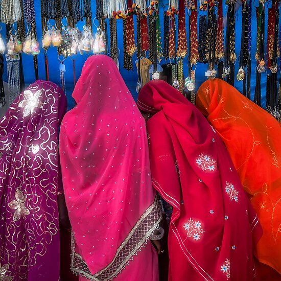 Product image link to buy 'Rajasthani Shopping Spree' Photographic Print by Glen Allison