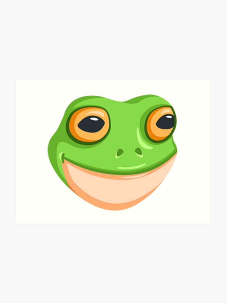 frog emoji art print