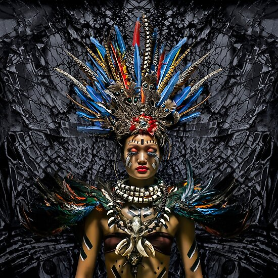 Product image link to buy 'Feathered Tribal Princess' Photographic Print by Glen Allison