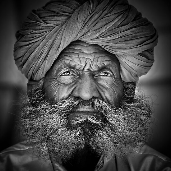 Product image link to buy 'Old Rajasthani Man' Photographic Print by Glen Allison