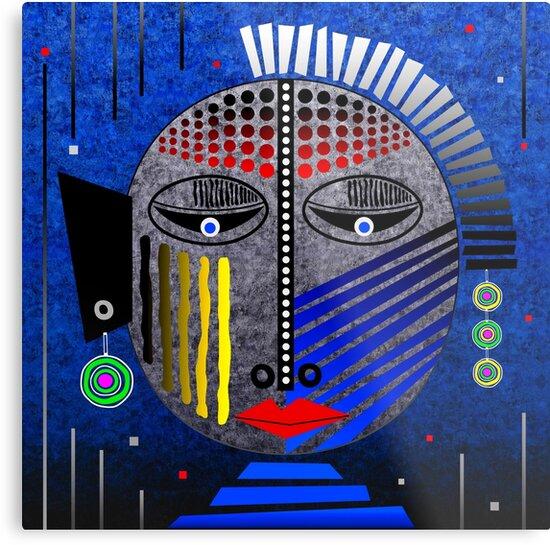 'Tribal Whimsy 12' Metal Print by Glen Allison