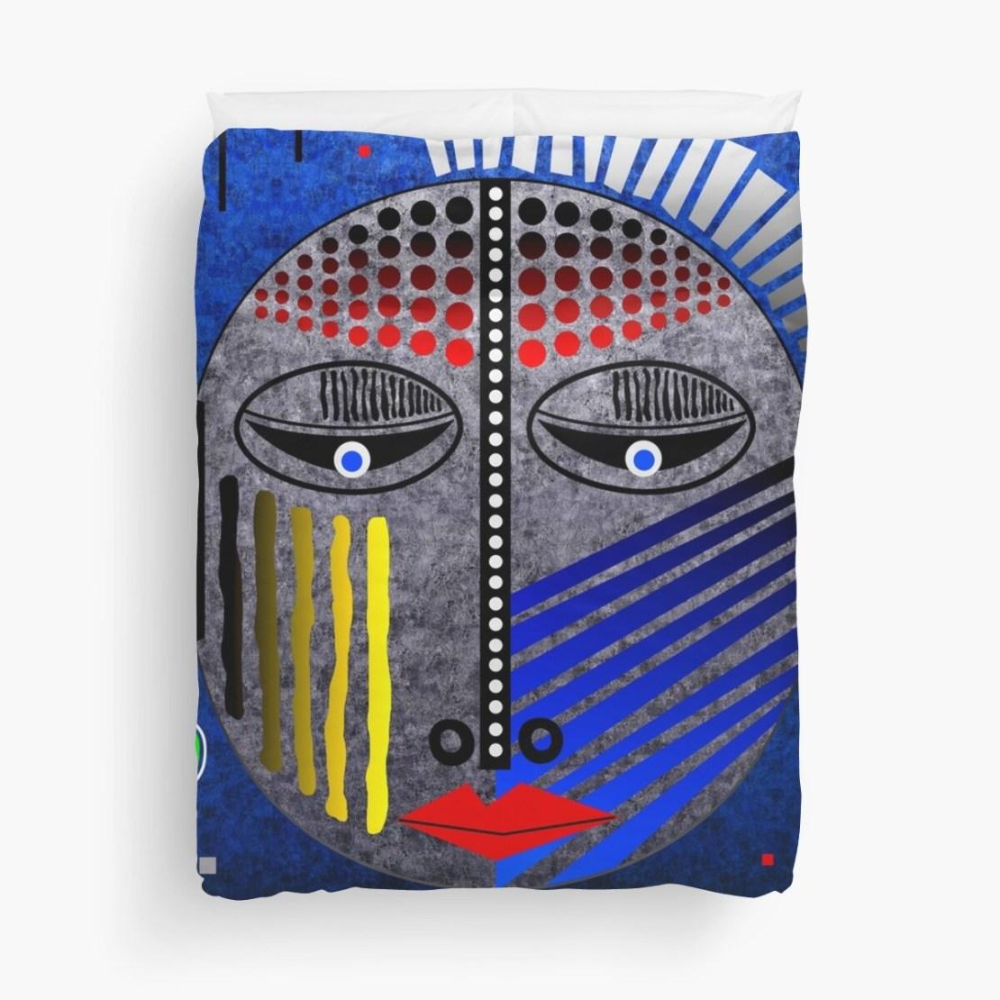 'Tribal Whimsy 12' Duvet Cover by Glen Allison