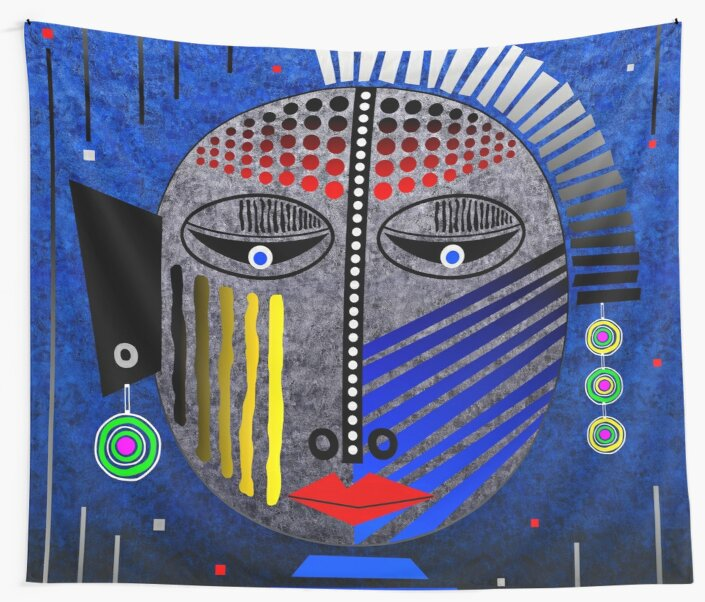 'Tribal Whimsy 12' Wall Tapestry products by renowned vagabond fine art travel photographer, Glen Allison