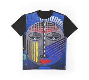 'Tribal Whimsy 12' Graphic T-Shirt by Glen Allison