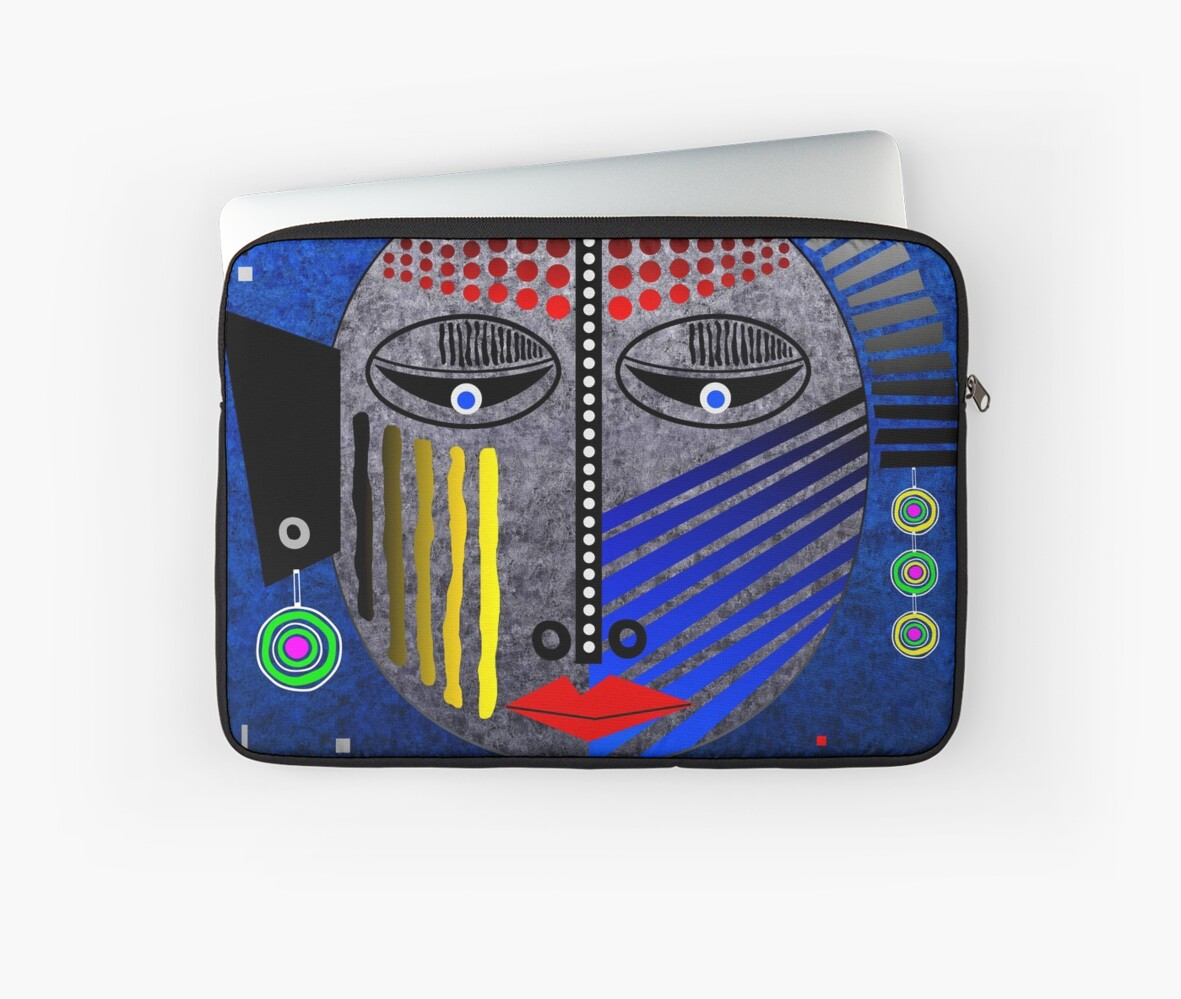 'Tribal Whimsy 12' Laptop Sleeve products by renowned vagabond fine art travel photographer, Glen Allison
