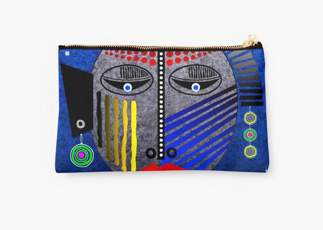'Tribal Whimsy 12' Studio Pouch by Glen Allison