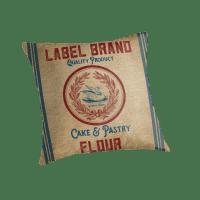 """Vintage Burlap Like Flour Sack"" Throw Pillows by ..."