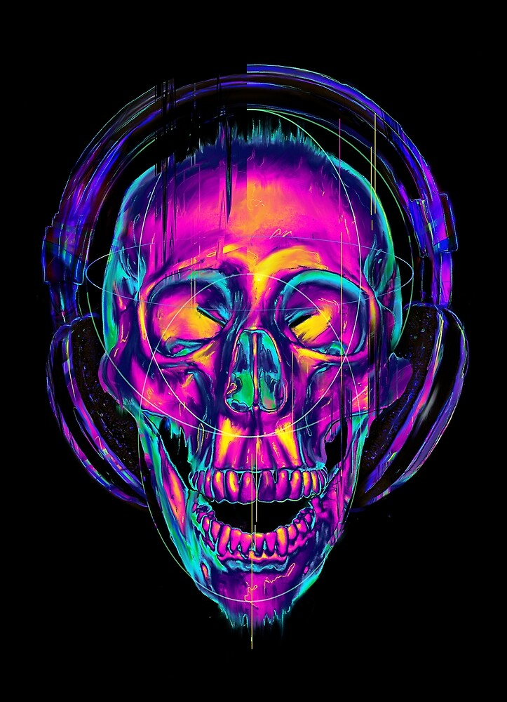 Sugar Skull Iphone Wallpaper Quot Trippy Skull Quot By Nicebleed Redbubble