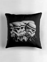 """""""Stormtrooper distracted"""" Throw Pillows by Nxolab 