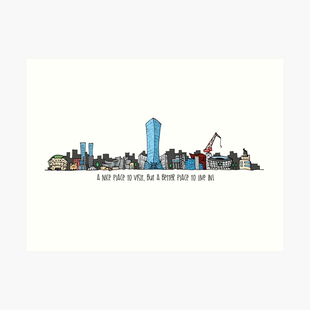 medium resolution of  dibujo de skyline bilbao ciudad city art print by artberri redbubble