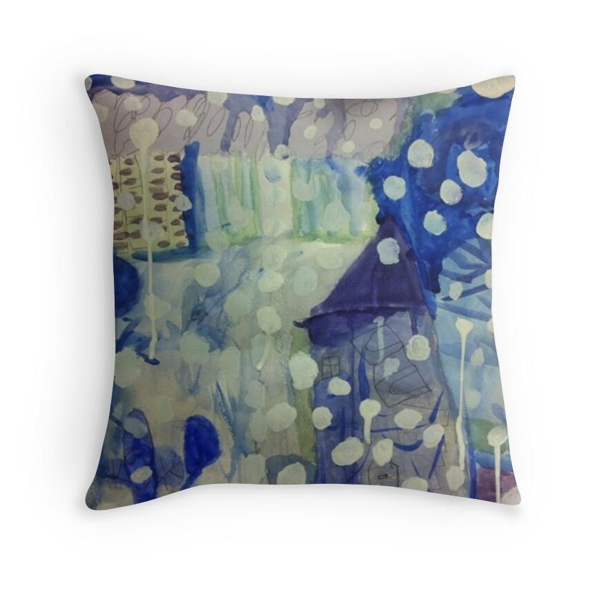 Winter Throw Pillows by Likkka  Redbubble