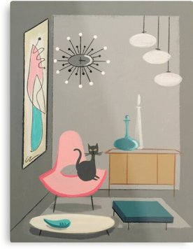 cat in room by elgatogomez WALL ART EVERY 20 YEAR OLD CAT LOVER NEEDS