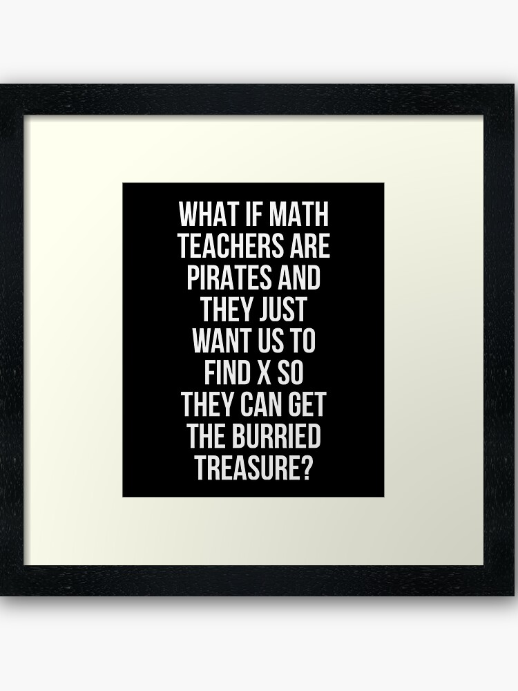 funny math teacher pirates