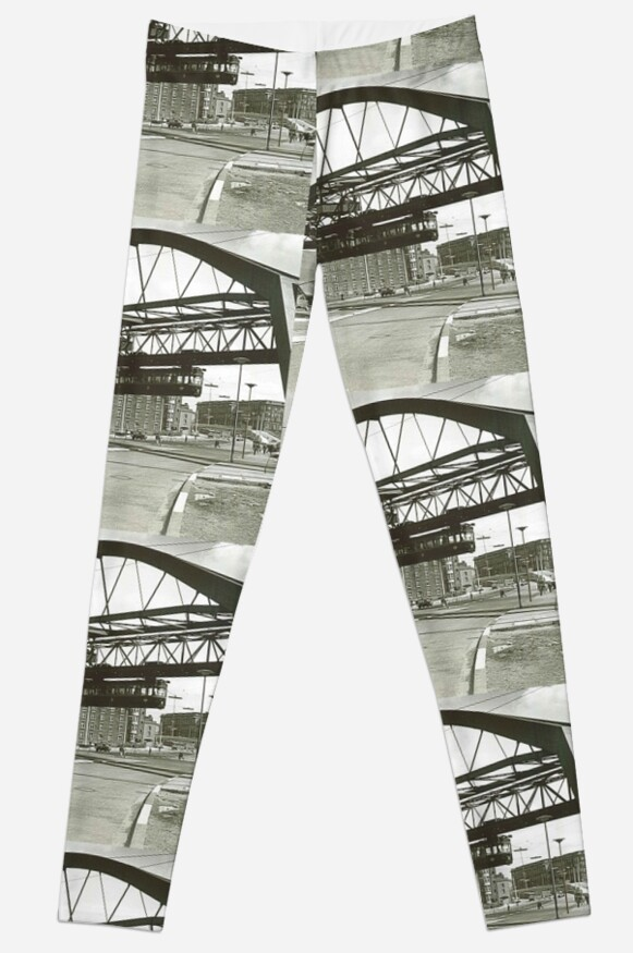 Vintage Wuppertal Floating Train Photo Leggings by stine1 on Redbubble