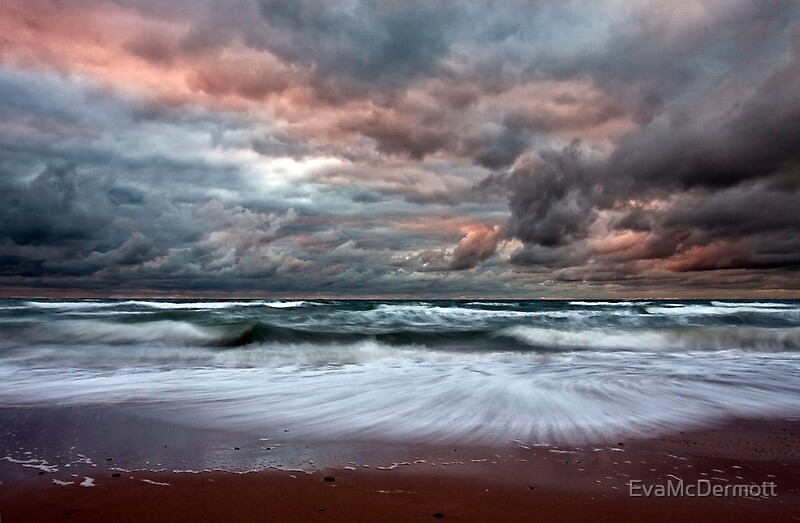 Stormy Skies Of Inverness Beach Nova Scotia By