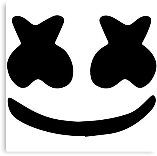 Marshmello Eyes Helmet Template
