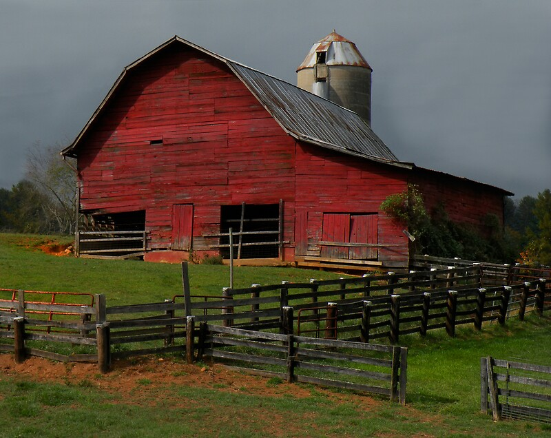 Waynesville Red Barn by Gary Pope  Redbubble