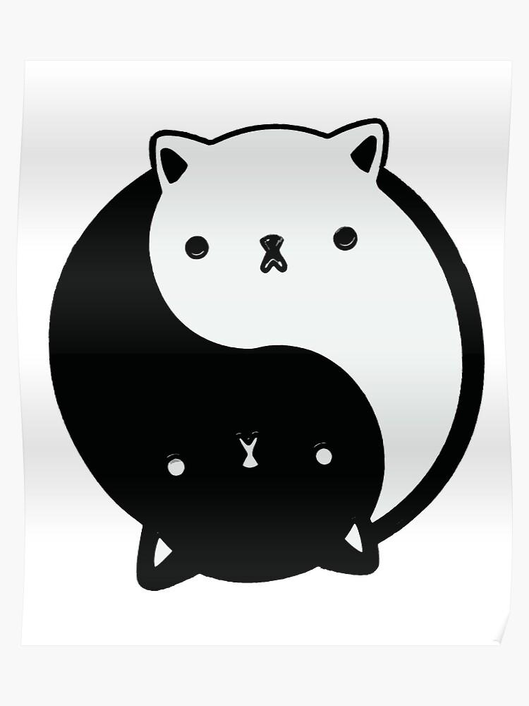 cute cat yin yang