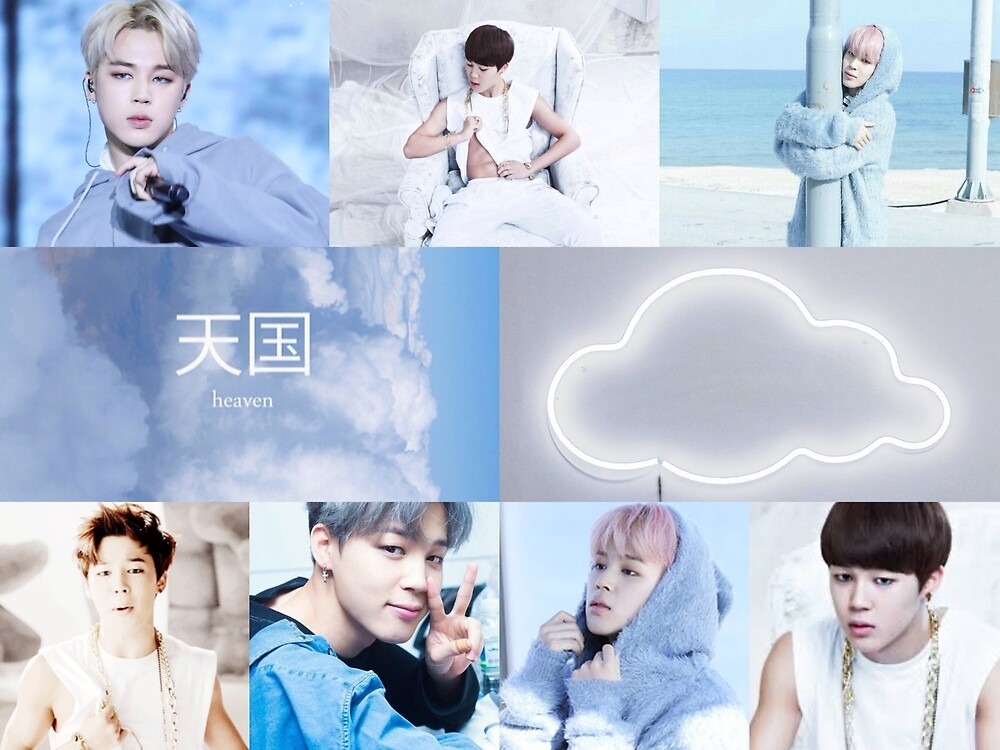 Jungkook Wallpaper Iphone Quot Jimin Aesthetic Clouds Quot By Liv Love Bts Redbubble