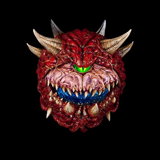 doom cacodemon poster by