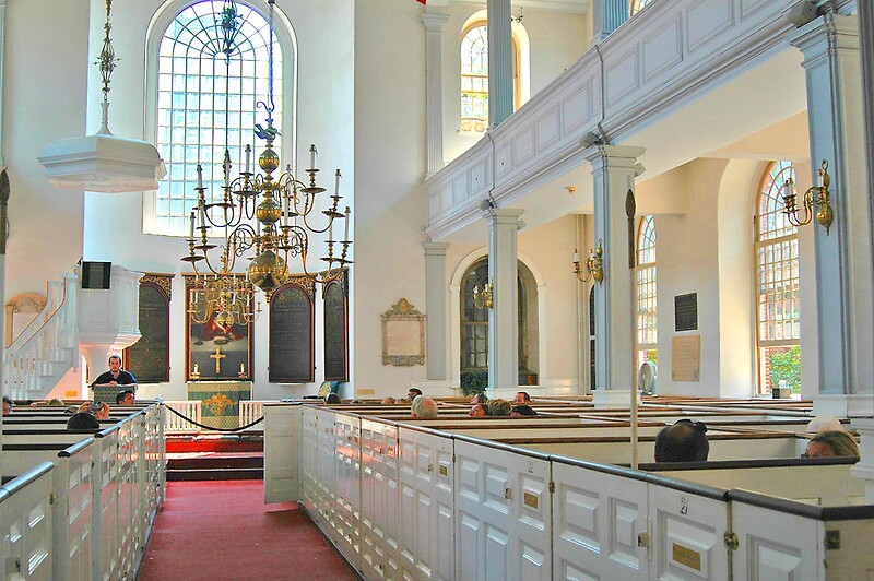 Old North Church  Boston Interior by Joseph Rieg