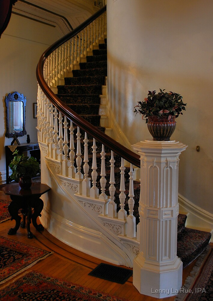 beautiful spiral staircase of Californias historic