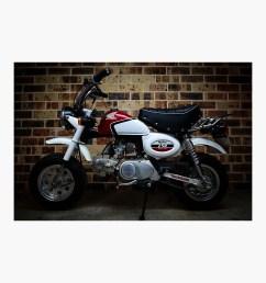 classic honda z50 monkey bike retro vintage motorbike photographic print [ 1000 x 1000 Pixel ]