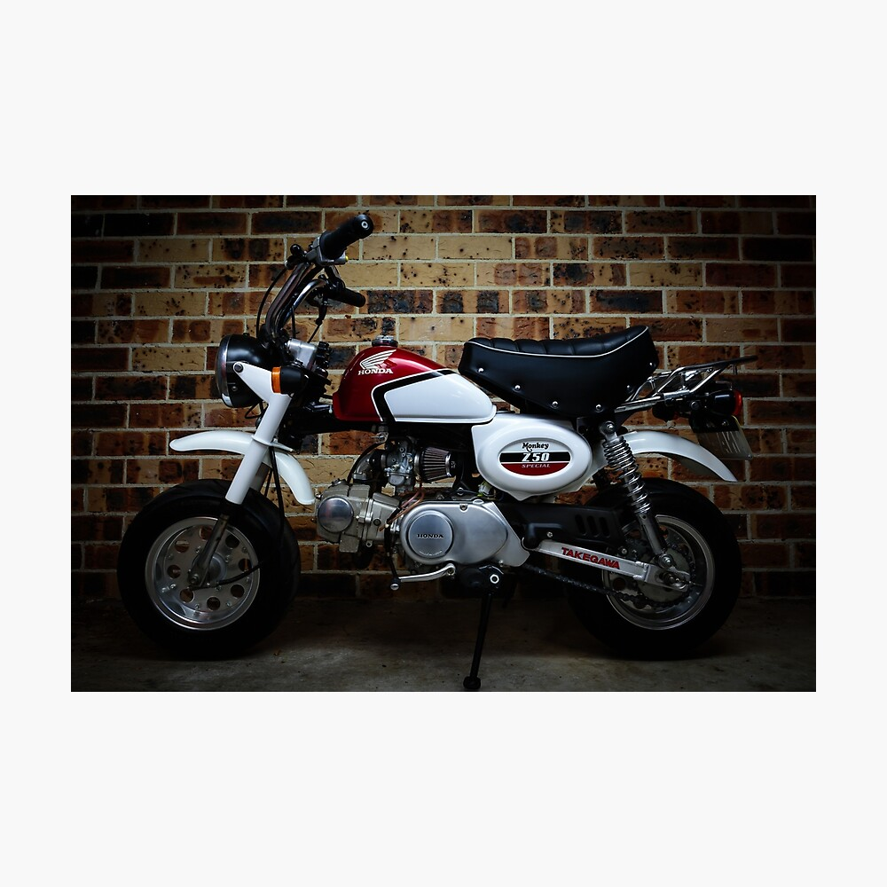 medium resolution of classic honda z50 monkey bike retro vintage motorbike photographic print
