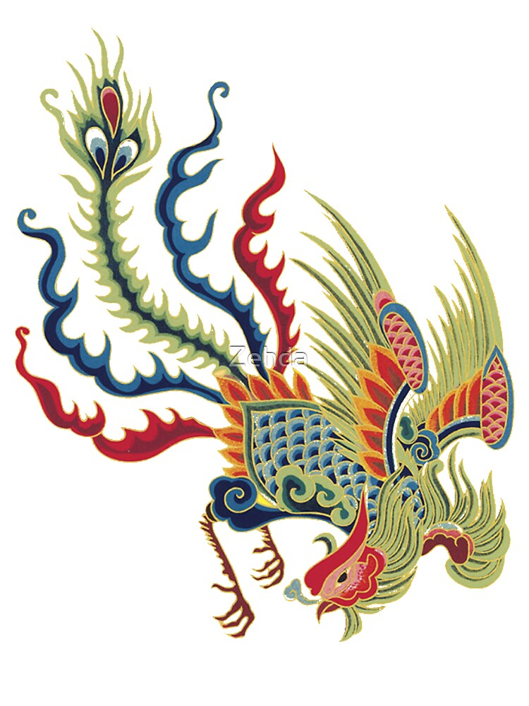 Asian Art Chinese Rooster by Zehda  Redbubble