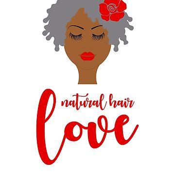 Pegatina Afro Twa Natural Hair Love Sticker De Gypsyinkdesign