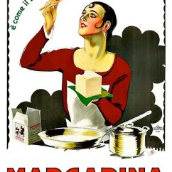 Vintage Posters For Kitchen Outdoor Design Plans Free Woman Cooking With Margarine Advertisement By Amoromniavincit
