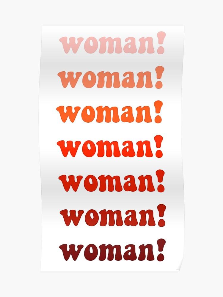 woman feminist logo poster