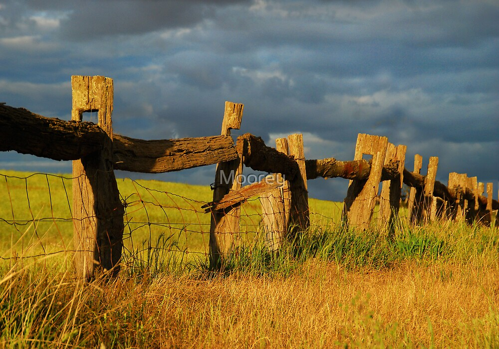 Country Fence by Moorey  Redbubble